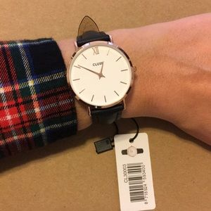 Cluse Minuit 33mm Rose Gold/White Womens Watch NWT